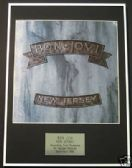 BON JOVI  - Framed LP Cover - NEW JERSEY